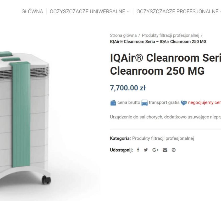 IqAir Oczyszczacze powietrza